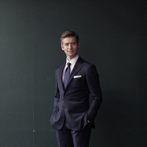 Steve Wily suit standing